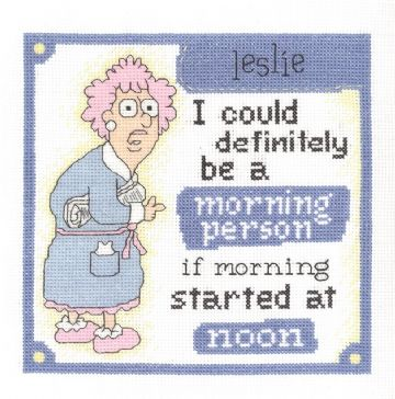 Morning Person by Janlynn Cross Stitch Kit